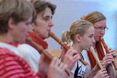 Das DNG Flötenensemble war natürlich auch dabei.