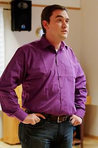 ... aber unser Chef Carsten macht die Ansprache ohne Mikrophon.