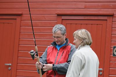 Guido hat sogar einen Fisch gefangen. Abends beim Grillen durfte jeder mal probieren.