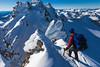 Female mountaineer on Mount Rolleston, Arthurs Pass National Park