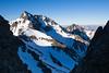 Mount Alarm and Mitre Peak viewed from Staircase Stream route, Mount Tapuae-o-uenuku, Inland Kaikoura Range