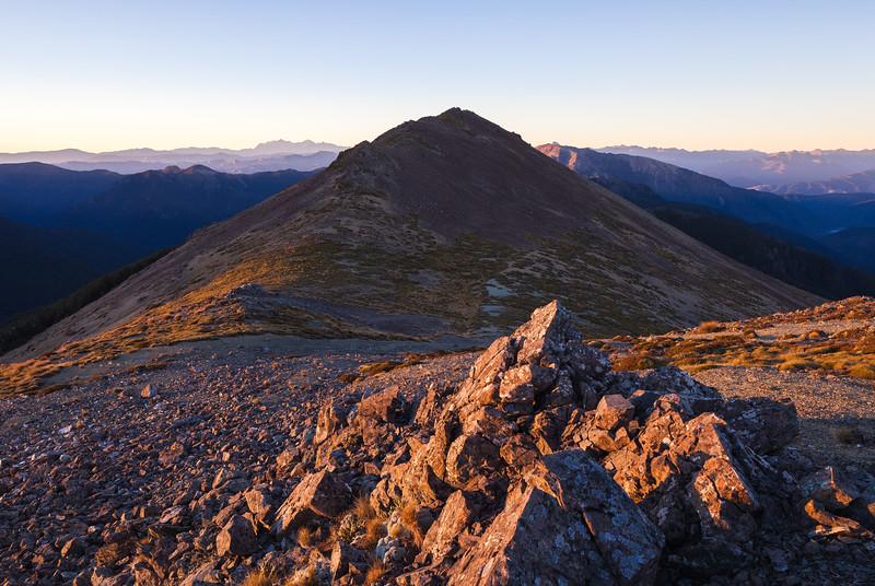 Early morning on Purple Top, Richmond Ranges, Nelson Marlborough