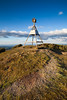 Trig station at summit of Pureora, Pureora Forest Park. Waikato King Country