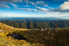 Tramper on Southern Crossing route. Tararua Range