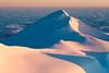 Morning light on Paretetaitonga, with my tent pitched below, Mount Ruapehu