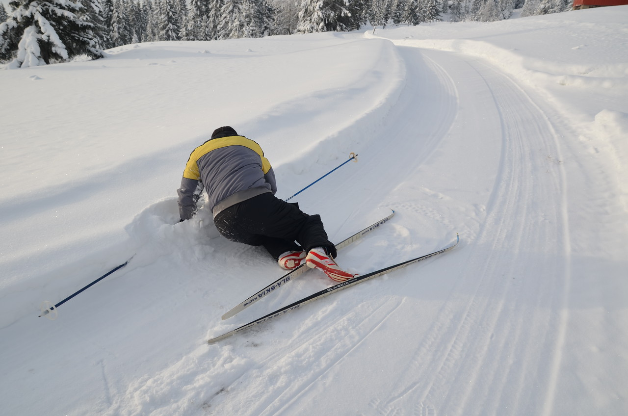 Ops ..... first time on cross country skis (racing model) is not thast easy ....