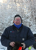 John Rasmussen after a day doing trail duty on snowmachine.  He's a tough guy!