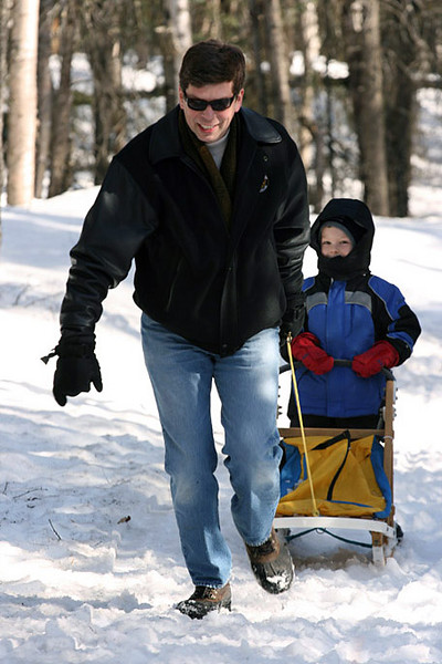 Mayor Mark Begich and his son Jacob.