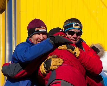 IMG_5402  Egil Ellis, Ken Chezik and Arleigh Reynolds congratulate each other.