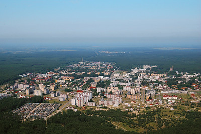 Luftbild von Slavutych mit Blick gen WestenAerial view of Slavutych, looking towards the west© Yuri Klinkov