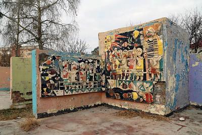 Sozialistische Kunst am Bau: Wandschmuck an einem Kindergarten (Baku-Viertel)Socialist public art: Wall decoration at a kindergarden (Baku quarter)© Philipp Meuser