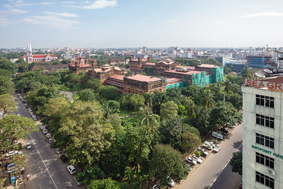 Aerial view of the Secretariat and wider Botataung townshipMinisters' Building (Secretariat)© Manuel Oka
