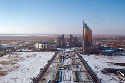 """Astana: Blick nach Westen auf den """"Runden Platz"""" (2005)"""