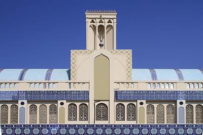 Das Wahrzeichen des Emirat Sharjah: der Blaue Souk.Landmark of the emirate Sharjah: the Blue Souk(c) Jan Dimog