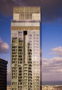 Der Rolex Tower an der Sheikh Zayed Road, DubaiThe Rolex Tower, Sheikh Zayed Road, Dubai(c) Nick Merrick for Hedrich Blessing