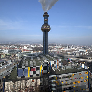 Müllverbrennungsanlage Spittelau (Fassadengestaltung Friedensreich Hundertwasser, 1989)
