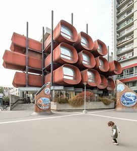 13 Konservatorium.  13 avenue de la Résistance, Montreuil. Claude Le Goas - 1977