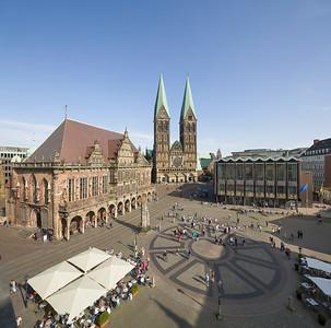 09 Marktplatz mit Rathaus, Dom, Haus der Bürgerschaft
