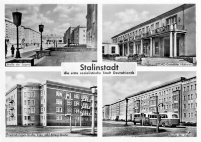 Ansichtskarte Stalinstadt, die erste sozialistische Stadt Deutschlands - 1958