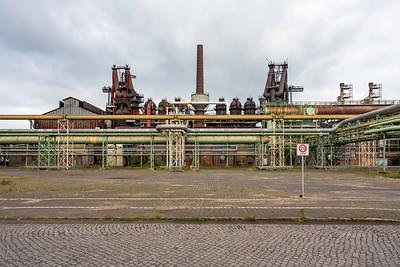 04 Hochofen 1 und 2 an der Hochofenstraße auf dem Werkgelände von ArcelorMittal GmbH