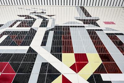 """15 Ausschnitt aus dem Wandmosaik """"Eisenhüttenkombinat Ost"""", Rudolf Grunemann - 1965"""