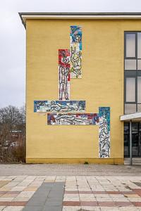 """16 Wandgestaltung """"Die Entwicklung der menschlichen Gesellschaft"""", Friedrich Kracht - 1965"""