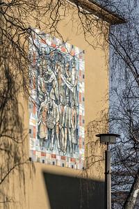 """01 Wandmosaik """"Völkerfreundschaft ∕Sozialistisches Leben"""", Eduard-Gerhard Clauß - 1959"""