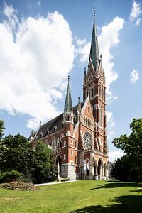 13 Herz-Jesu-Kirche und Pfarrhof. Georg Hauberrisser d.J., Heinrich Tritthart; 1891, 1991