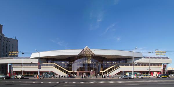 05 Minsk Bahnhof | Minsk Railway Terminal. Ya. Shamray, Ye. Vasilyev, E. Kagan, B. Spichak; V. Kramarenko, M. Vinogradov, 1990; 2003