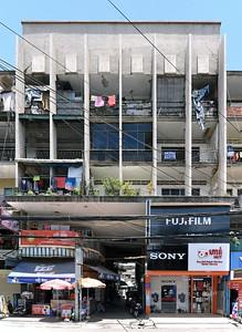 01 Tan Pa Building. Fassade. Architekt | Architect: René Nguyen Khac Scheou (1960er Jahre | 1960s)
