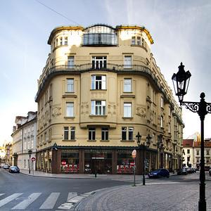 Pavla Táboříková02 Zwei Wohnhäuser mit Geschäften und Ateliers.  Bedřich Bendelmayer, Emil Weichert, 1903–1904