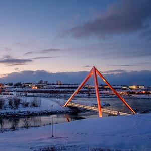 08 Fußgängerbrücken. Teiknistofan Tröð, 2012