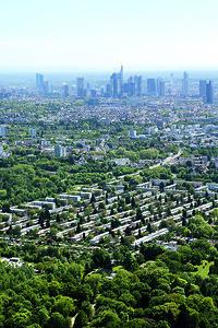 01 Blick auf die Frankfurter Skyline aus dem Umland