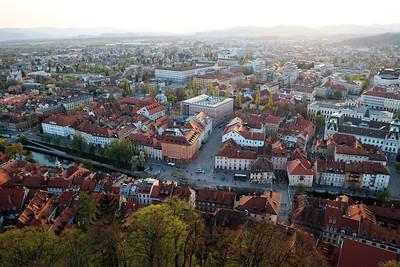 01 Blick auf Ljubljana von der Burg aus in Richtung Südwesten