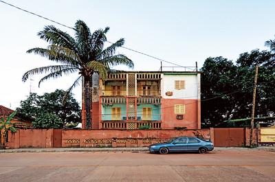 Modernist residential building in Bissau's Rua Eduardo Mondlane, Guinea-Bissau