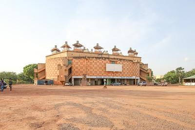 Maison du Peuple in Burkina Faso's capital Ouagadougou (inaugurated in 1965)
