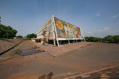 Modibo Keïta Sports Pavilion in Bamako, Mali, designed by Soviet architects E. V. Rybitsky, L. N. Afanasyev et al. (1967)