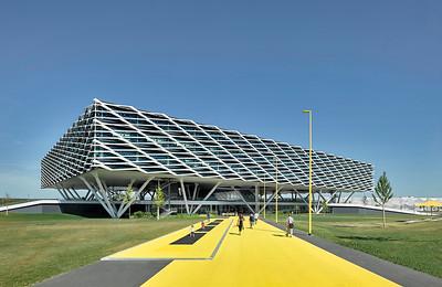 06 Shortlist: Behnisch Architekten. adidas World of Sports Arena, Herzogenaurach.