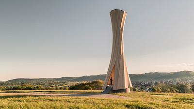 15 Shortlist: ICD / Achim Menges und Itke / Jan Knippers, Universität Stuttgart. Urbach Turm | Urbach Tower, Remstal.
