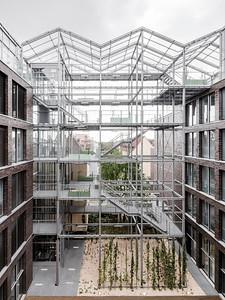 16 Shortlist: Kuehn Malvezzi. Gebäudeintegriertes Dachgewächshaus und Verwaltungsgebäude | Building-integrated rooftop greenhouse and administration centre, Oberhausen.