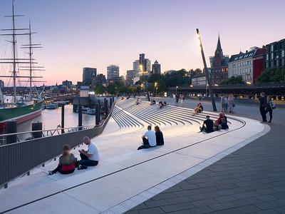 21 Shortlist: Zaha Hadid Architects. Hochwasserschutzanlage und Uferpromenade | Flood defences and waterside promenade Niederhafen, Hamburg.