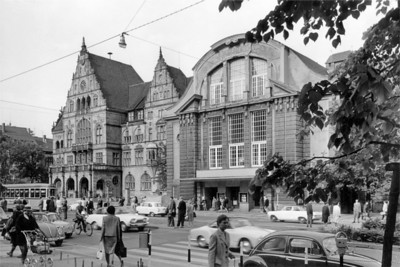 479-4 Pressebild 02 Bielefeld Schillerplatz Niederwall um 1964 © Stadtarchiv Bielefeld Fotograf Günter Rudolf