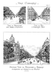05 Eugène Hénard, Boulevard à Redans, perspectives, 1903