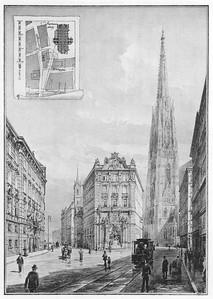 09 Karl Mayreder, Studie über eine neue Verbindung der Singerstraße mit dem Stephansplatz, 1895