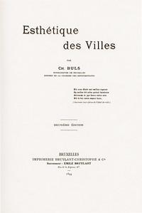 02 Charles Buls, Esthétique des Villes, Brüssel 1894, zweite Auflage, Titelseite