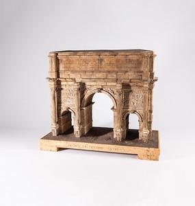05 Antonio Chichi (1743–1816), Korkmodell des Septimius-Severus-Bogens in Rom, 1786
