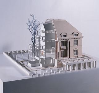 06 Oswald Mathias Ungers (1926–2007), Deutsches Architekturmuseum, Frankfurt am Main, Modell der dritten Entwurfsphase, 1981