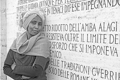07 Eritrean woman in Rome