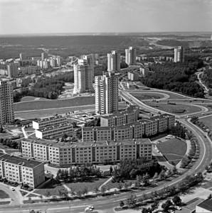 Luftbild von LazdynaiLazdynai from a bird's-eye-viewPhoto: Romualdas Rakauskas, 1970s