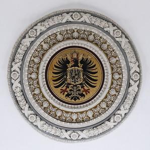06 Deutsches Generalkonsulat Istanbul (Türkei), Deckenrosette im Treppenhaus.